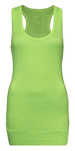 Damen Tanktop Buy 4 Get 1 Free - Unterhemd - Tank Tops - Ringertop - Ringerrücken - Trägertop - Tshirt - Applegreen