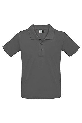 Premium Poloshirt Ton in Ton Herren Graphit