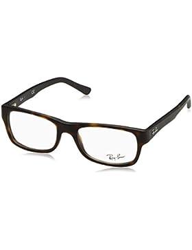 Ray-Ban 5268, Monturas de Gafas Unisex, Negro, 50
