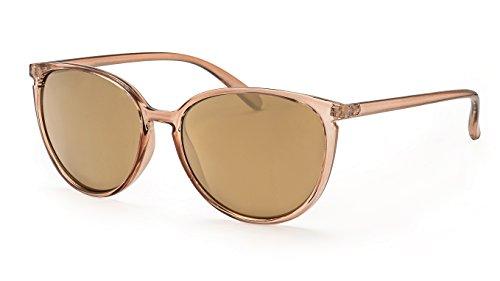 Filtral Vintage Sonnenbrille für Damen / Gold verspiegelte Cateye Sonnenbrille im transparenten Look F3024708