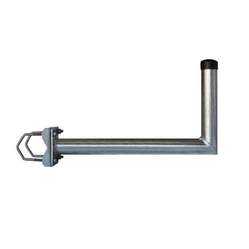 PremiumX Balkonhalterung / Geländerhalterung / Ausleger mit Schellen, Zahnschellen 45cm Stahl für Sat Schüssel Spiegel Antenne Satellitenschüssel