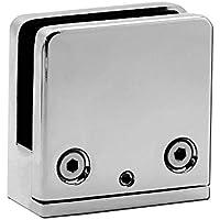 Soporte Abrazadera De Vidrio Glass Clamp Clip Conector Plano Curvado 4-10mm Barandilla Baño Ducha Terraza Acero Inox, Modelo:Modelo 1 - plano - 2 piezas