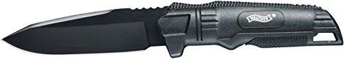 Walther BUK-Back Up Knife 5.0720 Outdoormesser, Schwarz, 210 mm