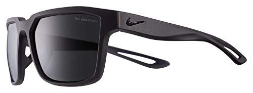 Nike Herren Sonnenbrille Fleet Matt Oil Grey mit dunkelgrauen Gläsern