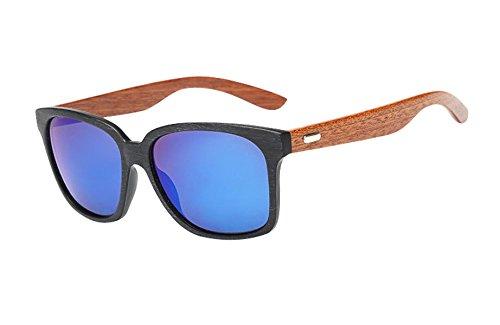 GoGou Holz Sonnenbrillen Kunststoffrahmen Umweltfreundlich Stil Wayfarer-Sonnenbrille ()