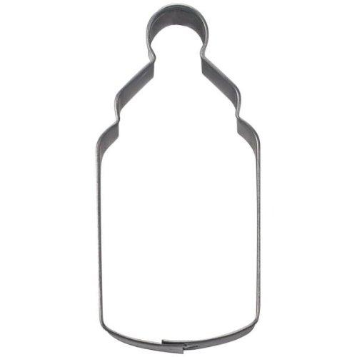 Haus Baby Flasche Cookie Cutter, silber, 6,5cm