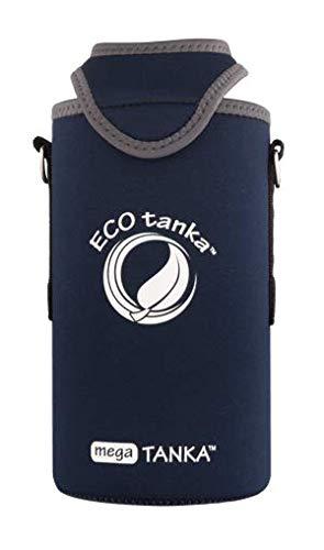 ECOtanka - megaTANKA KOOLER mit Trageriemen, blau, Neopren, universal, für: 1,5l und 2l Flaschen PET, Plastikflaschen, Champagner, Wein, Sekt -