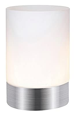 Haysom Interiors Touch Dimmable Table Lamp, Satin Chrome by Haysoms