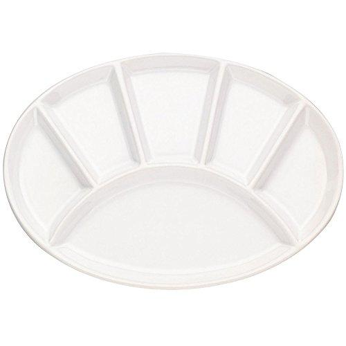 Kela 67401 Fondueteller oval 28 cm weiß glänzend