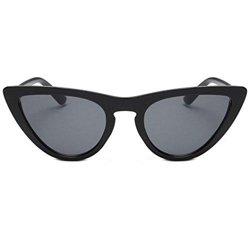 URSING Frauen Film Objektiv Katzenaugen Acetat Rahmen UV-Brille Kleine Rahmen Dreieck Vintage Shades Sonnenbrille Retro Vintage Cateye Brille Damen Eyewear Women Sunglasses Damenbrillen (F)