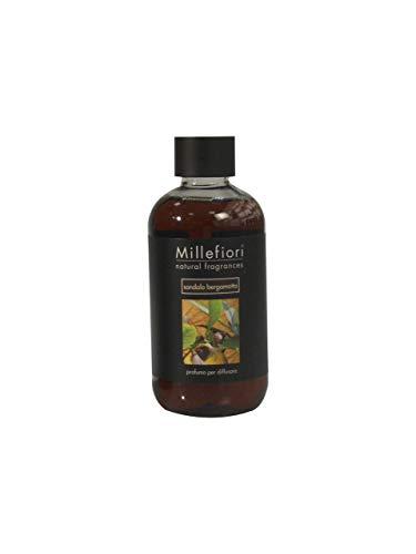 Millefiori Natural Ricarica per diffusore di fragranza per ambienti 250ml fragranza Sandalo Bergamotto