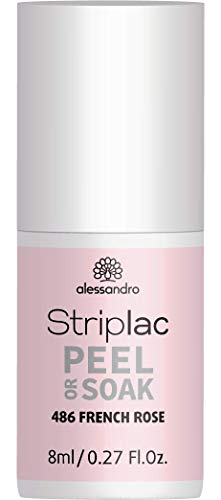 Uv-soak (alessandro Striplac Peel or Soak 486 French Rosa - LED Nagellack Für Klassische French Nails, 8 ml)