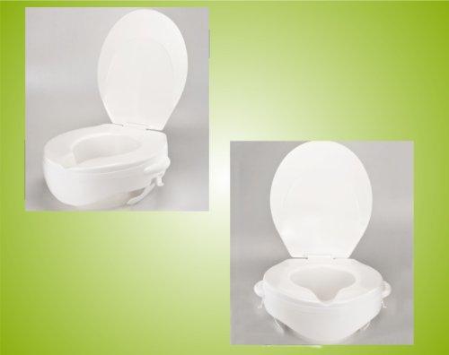 Toilettensitzerhöher Toilettensitz mit Deckel 10 cm Rehofix *Top-Qualität zum Top-Preis*