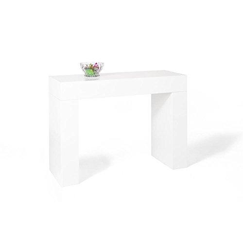 Mobili Fiver, Evolution Console d'entrée, Mélaminé, Blanc Laqué Brillant, 110 x 40 x 80 cm