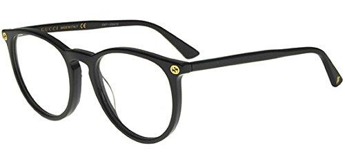 Gucci - GG0027O, Rund, Acetat, Damenbrillen, BLACK(001 A), 50/20/140