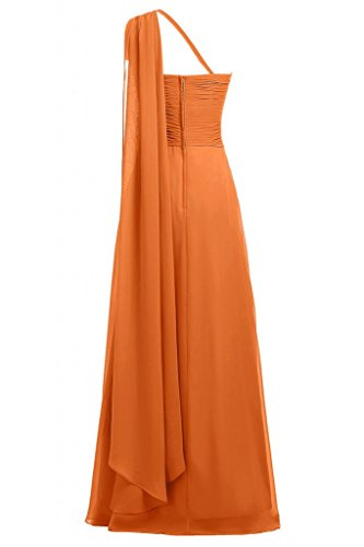 Sunvary-One, in Chiffon tracolla Vestito lungo da sera, Donna Orange