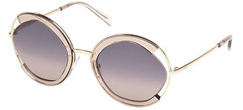 Emilio pucci ep0073 45b 57 occhiali da sole, marrone chiaro luc\fumo grad, unisex adulto