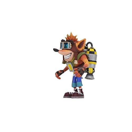 Neca 41053 Bandicoot-Crash with Jetpack Deluxe (14cm) Action Figur, Multi