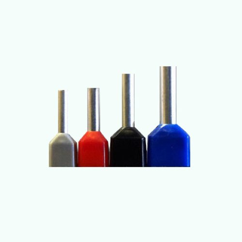 Lange Barrel Ratschensystem Twin isoliert Kabel Endkappen Hülse Terminals, 1,0mm² rot (TL100), 25 - Twin Bolt