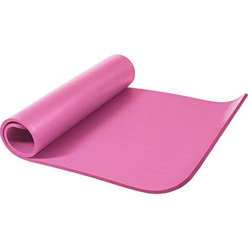 GORILLA SPORTS Yogamatte 190 x 100 x 1,5 cm für Fitness, Pilates, Gymnastik - Sportmatte in Rosa, rutschfest und phthalatfrei