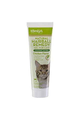 Tomlyn Natural Hairball Remedy Gel for Cats, Chicken Flavor, (Laxatone®Natural) 4.25 oz