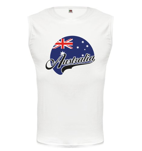 buXsbaum® Tank Top Australien-Logo White-z-direct