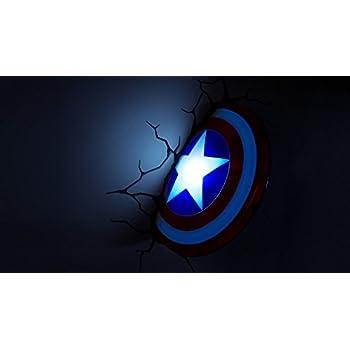 Marvel avengers 3d deco wall lights captain america shield night marvel avengers 3d deco wall lights captain america shield night light mozeypictures Gallery