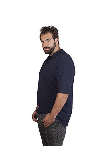 Premium Poloshirt Ton in Ton Herren Marineblau