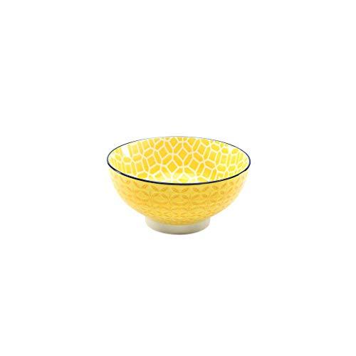 Neu Müslischale Dessertschale Salatschüssel Mediterran | Steinzeug | Curry - Gelb | Ø 15 cm ...