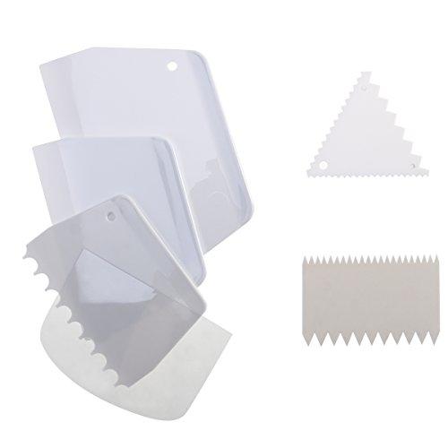 OUNONA 6pcs Kuchen Schaber Icing Smoother Kamm Set Kuchen Rand Seite Dekorieren Werkzeuge Schaber -