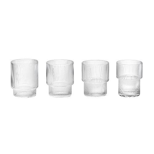 Ferm Living - Ripple Gläser - geriffelt - mundgeblasen - 4 er Set