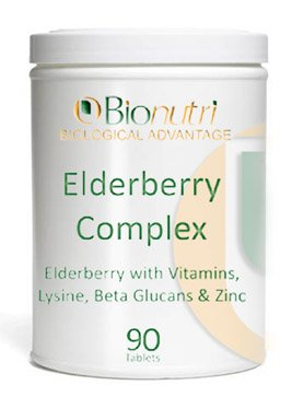 Bionutri Elderberry Complex, 90 Kapseln, 45 Tage Vorrat