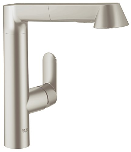 GROHE K7 Küchenarmatur - hoher Auslauf - herausziehbare Spülbrause -SuperSteel 32176DC0