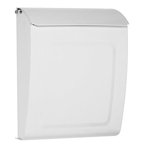 Architectural mailboxes 2594w, cassetta per le lettere con supporto da parete e serratura con chiave, color bianco pioppo, dimensione: s [istruzioni in italiano non garantite]