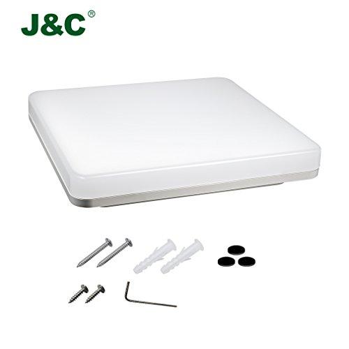 JNC-2-anni-di-garanzia-24W-2050-LM-PC-da-incasso-rotonda-wetroom-lampada-a-LED-seminterrato-bagno-dilluminazione-di-ambienti-umidi-Neutral-White-4000-4500K-il-90-di-sconto-A