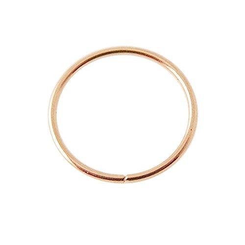 Solide 14K Rose Gold 18-Gauge - 8MM Durchmesser Nahtlose kontinuierliche offene Hoop Nasenring Nase Piercing