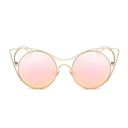 QUINTRA Frauen MäNner Frauen MäNner Frauen MäNner Vintage Retro Brille Unisex Mode Flieger Spiegel Sonnenbrille (Kosten Kontaktlinsen)