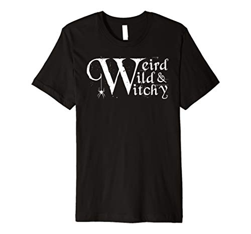 (Weird Wild und Witchy Halloween T-Shirt Hexe Spider Shirt)