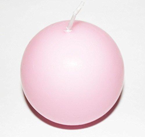 Kugelkerze rund 60 mm (Farbe wählbar) (rosa)