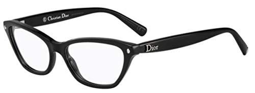 Christian Dior Damen Brillengestell Schwarz Schwarz Frau