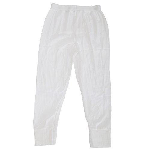 Thermo-Wäsche für Jungen, lange Unterhose (Hergestellt in Großbritannien) (Alter: 3-5, Hüfte: 52 cm) (weiß)