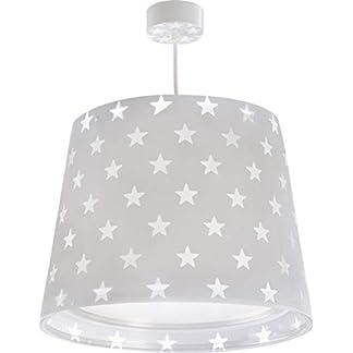 Dalber Stars Lampada da soffitto grigio, plastica