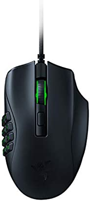 Razer Naga X MMO Gaming Wired Mouse - 16 Programmable Buttons, Optical Switch, 85g Midweight, Chroma RGB - Cla