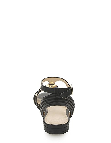 Guess Black Leather Sandals Black
