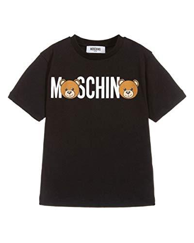 Moschino t-shirt unisex con logo, 6 anni, nero