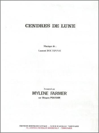 CENDRES DE LUNE