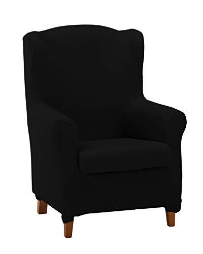 Martina Home Tunez Sesselbezug für Ohrensessel, Schwarz, 70-100 cm