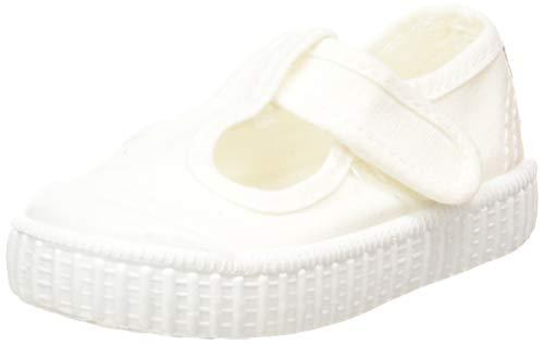 victoria 1915 Sandalia Lona Tintada Velcro, Sneaker Unisex-Bimbi, Bianco (Blanco 20), 23 EU