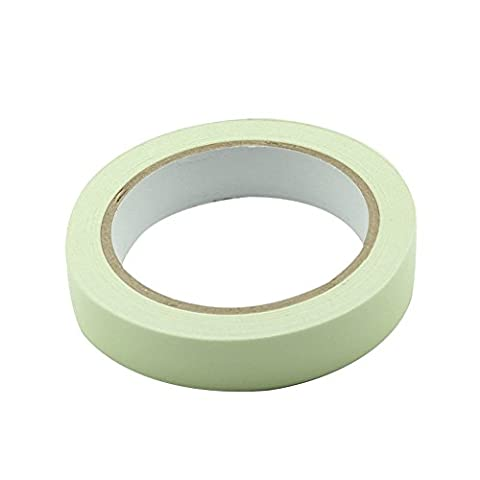 Luminous Tape Sticker, Tracffy 10m * 10mm Luminous Tape Self-adhesive Removable Waterproof Glow in the Dark Green Light Safety Tape for Home, Motorcycle Decorations