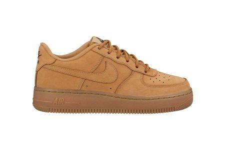 Nike Kinder Air Force 1 Winter Premium (GS) Braun Leder Sneaker 36.5 (Braun Air Force 1)